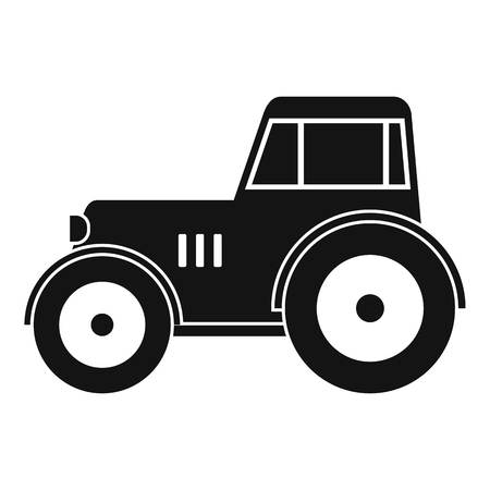 agronomics: Tractor icon in simple style isolated vector illustration.