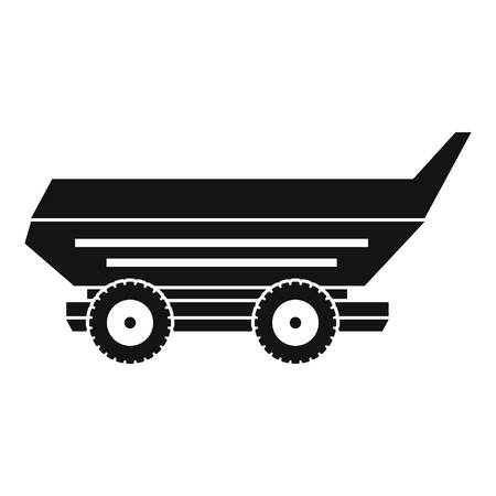 Car trailer icon in simple style isolated vector illustration.