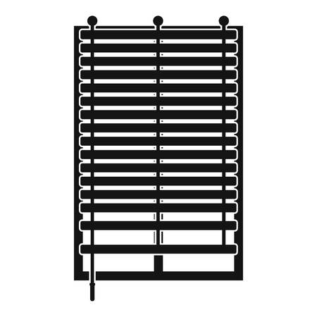 panes: Window with wooden jalousie icon in simple style isolated vector illustration.