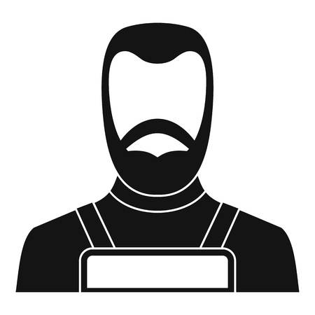 forge: Blacksmith icon simple Illustration