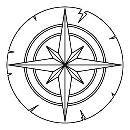 Ancient compass icon outline