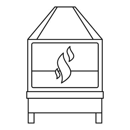 forge: Blacksmith icon outline Illustration