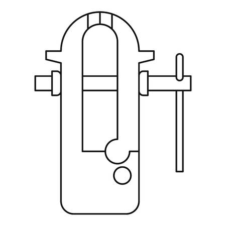 vice grip: Blacksmiths vice icon outline