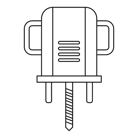 Boer drill icon outline