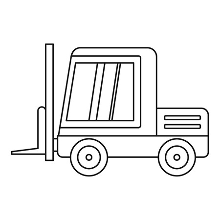 ic: Stacker loader icon in outline style isolated vector illustration.