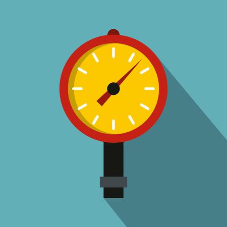 Manometer or pressure gauge icon, flat style Illustration