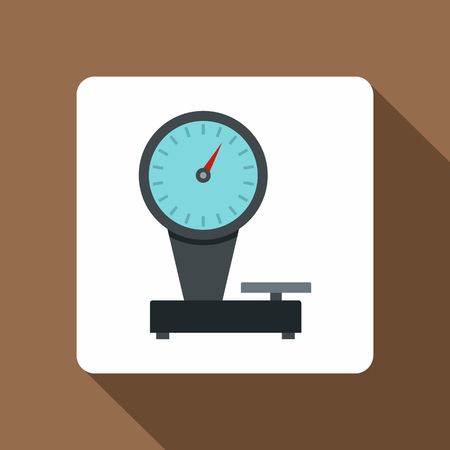 Weight scale icon, flat style
