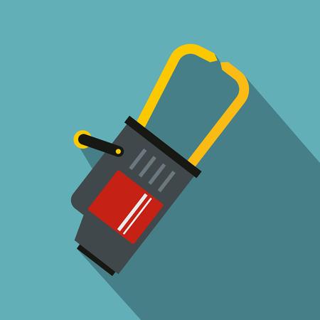 Welding equipment icon, flat style Illustration