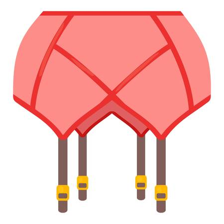 Coral belt stockings icon, cartoon style Ilustração