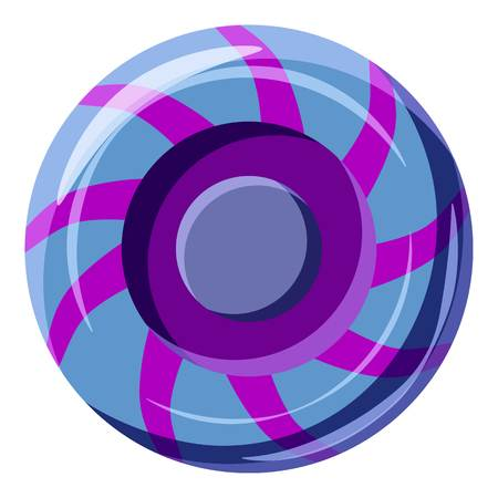 Blue and purple sweet lollipop candie icon Illustration