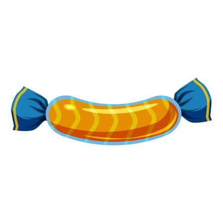 甘いお菓子でカラフルなラップ アイコン漫画のスタイル  イラスト・ベクター素材