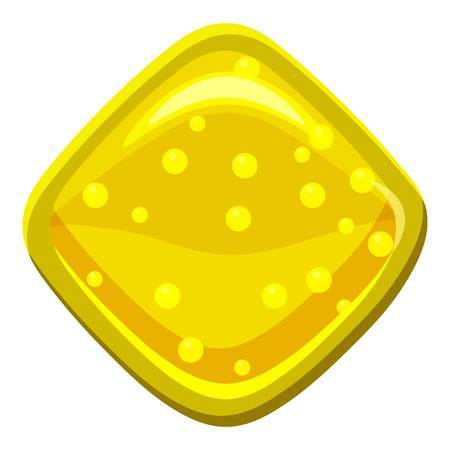 Yellow candie icon, cartoon style