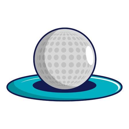 dimple: Golf ball icon, cartoon style Illustration