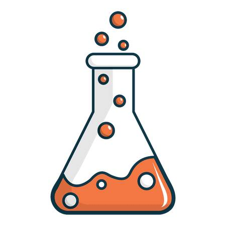 Chemical laboratory transparent flask icon