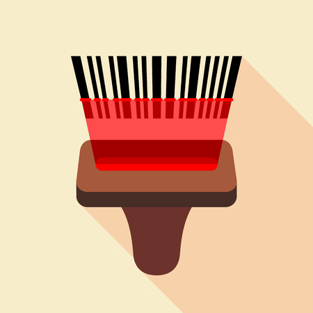 reader: Barcode reader icon, flat style Illustration