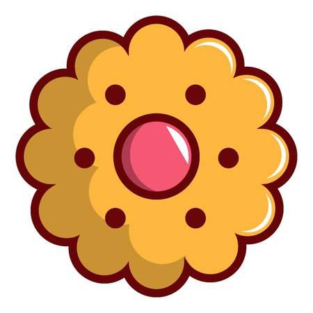 Cookie icon, cartoon style