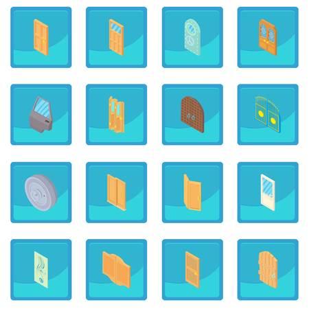 sunroof: Door icon blue app