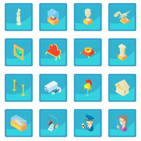 Museum icon blue app Illustration