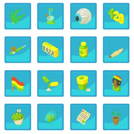 cupcake illustration: Rastafarian icon blue app for any design vector illustration