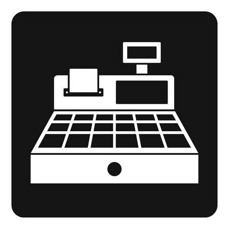 departmental: Sale cash register icon in simple style isolated vector illustration Illustration