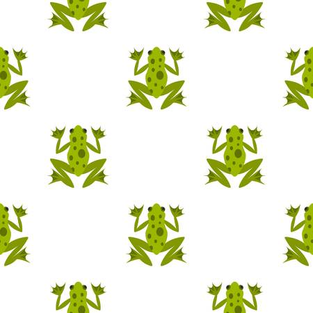 Frog pattern seamless background in flat style repeat vector illustration Illustration