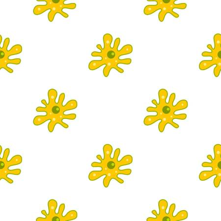 Amoeba pattern seamless background in flat style repeat vector illustration