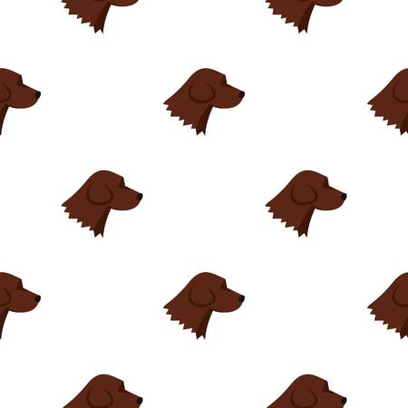 Beagle dog pattern seamless background in flat style repeat vector illustration