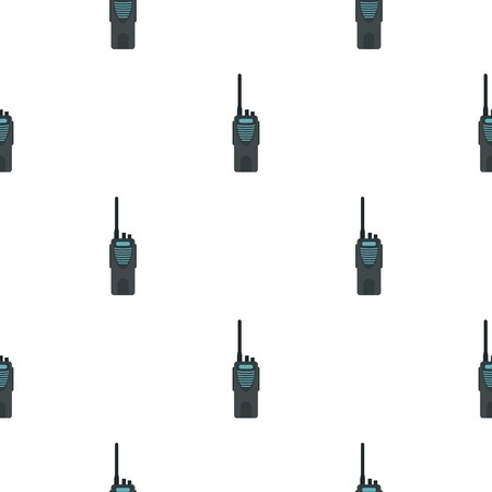 global positioning: Radio pattern seamless background in flat style repeat vector illustration