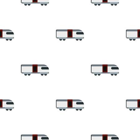 transit: Train pattern seamless background in flat style repeat vector illustration Illustration