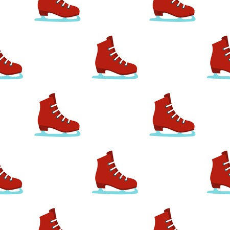 freeze: Skates pattern seamless background in flat style repeat vector illustration