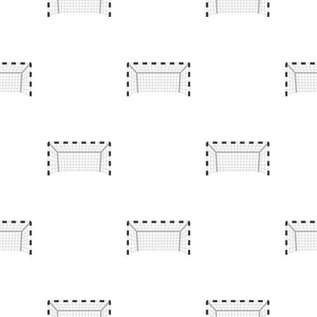 soccer goal: Football or soccer gate pattern seamless background in flat style repeat vector illustration