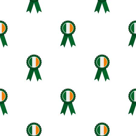 celtic: St Patrick day rosette pattern seamless background in flat style repeat vector illustration