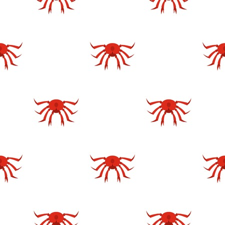 crab legs: Red crab pattern seamless background in flat style repeat vector illustration