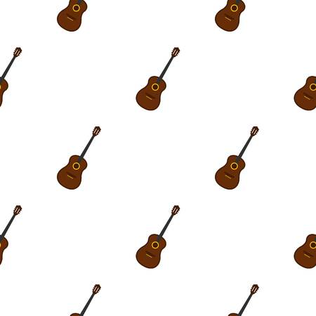 fingerboard: Charango, music instrument pattern seamless background in flat style repeat vector illustration Illustration