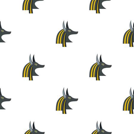 Anubis head pattern seamless