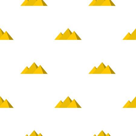 Egyptian Giza pyramids pattern seamless Illustration