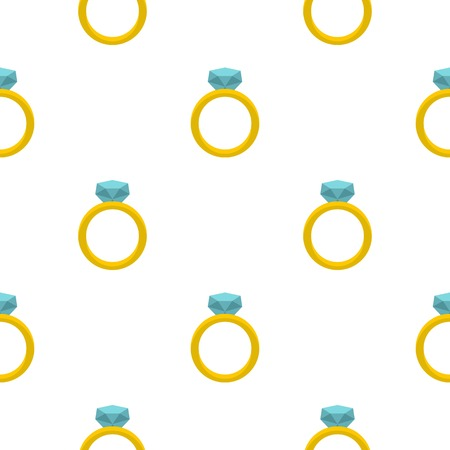 Gold ring with diamond pattern seamless Vettoriali