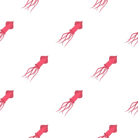 Pink squid pattern seamless for any design vector illustration Illustration