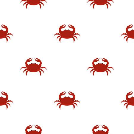 Red crab pattern seamless for any design vector illustration