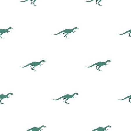 Velyciraptor dinosaur pattern seamless for any design vector illustration