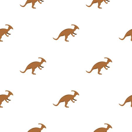 fearful: Brown parazavrolofus dinosaur pattern seamless for any design vector illustration