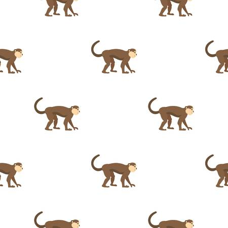 Macaque monkey pattern seamless for any design vector illustration Illustration