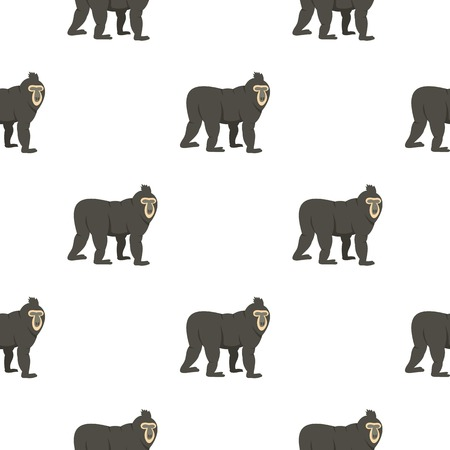 simian: Mandrill pattern seamless for any design vector illustration Illustration