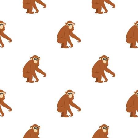 genus: Dusky leaf monkey pattern seamless for any design vector illustration Illustration