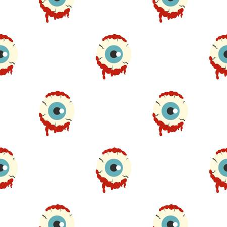 eerie: Zombie eyeball pattern seamless Illustration