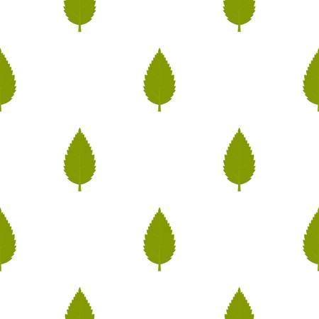 Green hornbeam leaf pattern seamless
