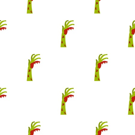 undead: Zombie green bloody hand pattern seamless