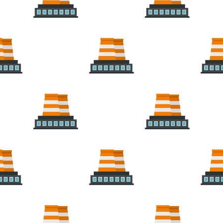 Industrial building pattern seamless for any design vector illustration