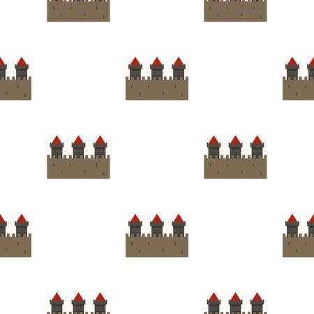 中世要塞パターン、デザイン ベクトル図のシームレス  イラスト・ベクター素材