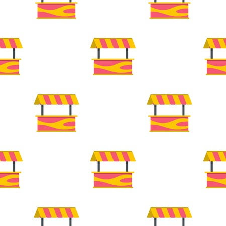 pink roof: Street stall with striped awning pattern seamless for any design vector illustration